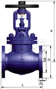 美标波纹管截止阀结构图