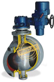 装配Q型电动执行器电动固定球阀实物图