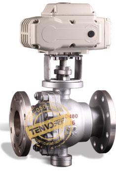 装配TT系列执行器电动固定球阀实物图