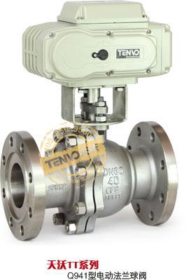 天沃TT系列不锈钢电动法兰球阀实物图