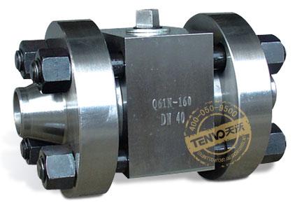 Q71N对焊连接锻钢高压球阀实物图