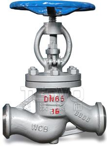 高温高压电站焊接截止阀实物图