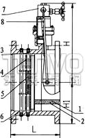 HH44X微阻缓闭式止回阀结构图