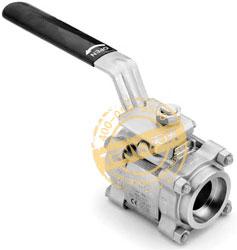 卡套管和公称管承插焊接球阀实物图
