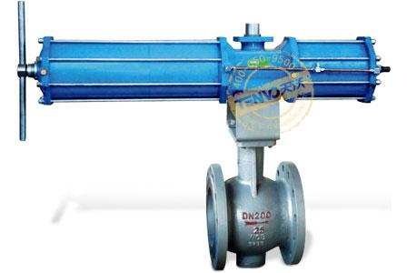 装配AW型气动执行器电动固定球阀实物图