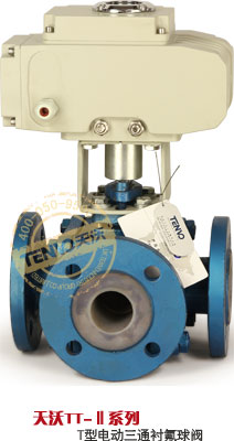 TT系列电动衬氟T型三通球阀