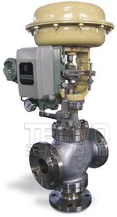 ZMAQ-163、ZMBQ-163气动薄膜三通切断阀实物图