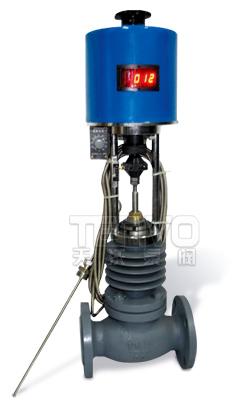 自力式电控温度调节阀实物图