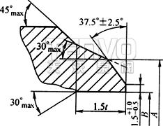 焊接端坡口结构图