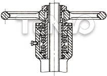 两个推力球轴承支承的阀杆螺母图片