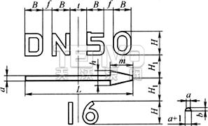铸造标志标记尺寸
