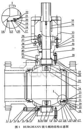 固定球锁斗阀的结构示意图