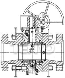 缩径球阀结构图