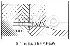 改型的行程指示杆结构