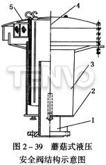 蘑菇式液压安全阀结构示意图